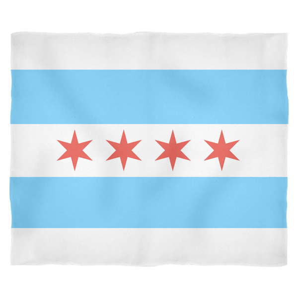 Chicago Flag Fleece Blanket
