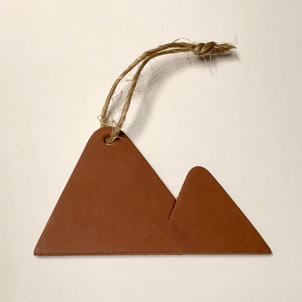 Personalized Leather Mountain Ornaments