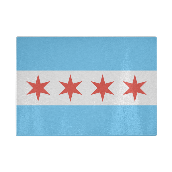 Chicago Flag Cutting Board