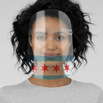 Chicago Flag Face Shield