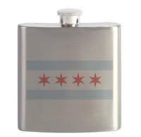 Chicago Flag 6 Ounce Flask