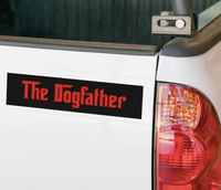 The Dogfather Bumper Sticker for Dog Dads