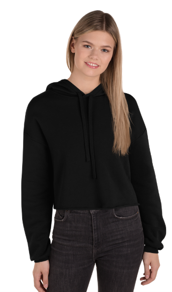 Custom Women's Cropped Hoodie, Bella + Canvas 7502