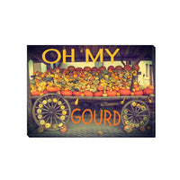 Oh My Gourd Decorative Canvas