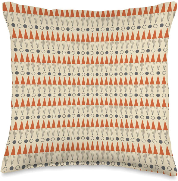Backgammon Midcentury Modern Patterned Throw Pillow
