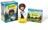 Bob Ross Chia Pet and Talking Bobble Head Gift Set