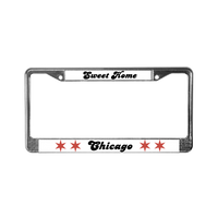 Chicago Flag License Plate Frame