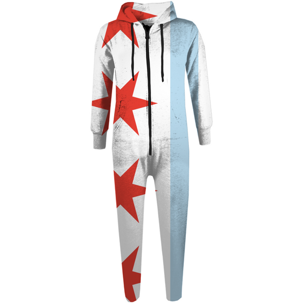Chicago Flag Adult Onesie