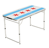 Chicago Flag Portable Beer Pong Table