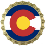 Colorado Flag Bottle Cap Magnets