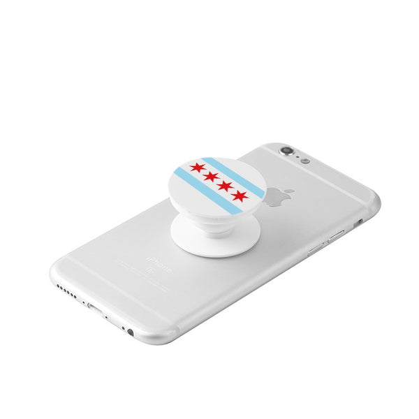 Chicago Flag Retractable Phone Grip