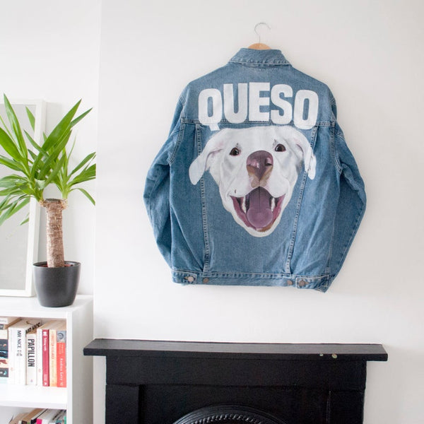 Custom Painted Pet Portrait Denim Jackets