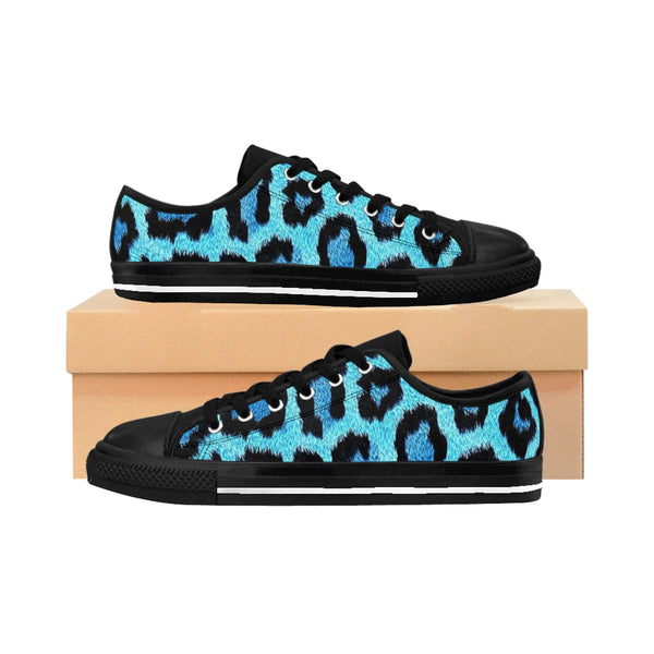 Blue Leopard Women's Sneakers