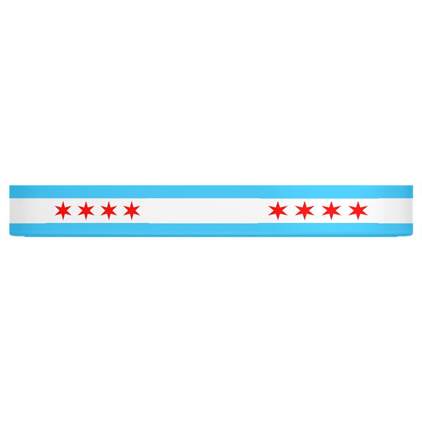 Chicago Flag Pet Bowl
