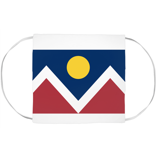 Denver Flag Face Mask
