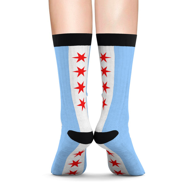 Chicago Flag Lounging Socks