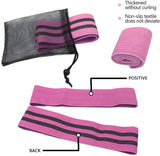 Fabric Resistance Bands, Cotton/Latex Non-Slip Glute Band Set
