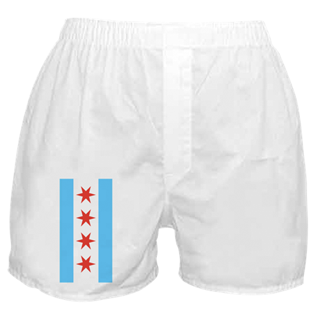 Chicago Flag Mens Boxers