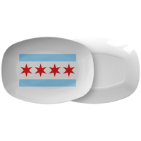 Chicago Flag Serving Platter