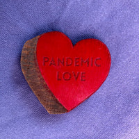 Wooden Candy Heart Tokens