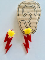 Zig Zag Pow! Superhero Earring Set for Women