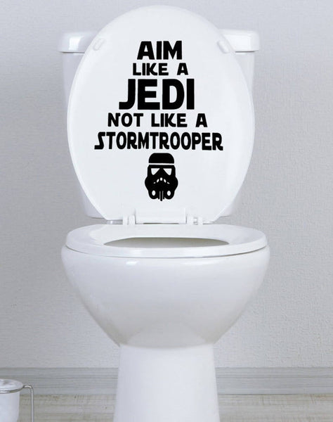 Aim Like a Jedi Toilet Seat Decal