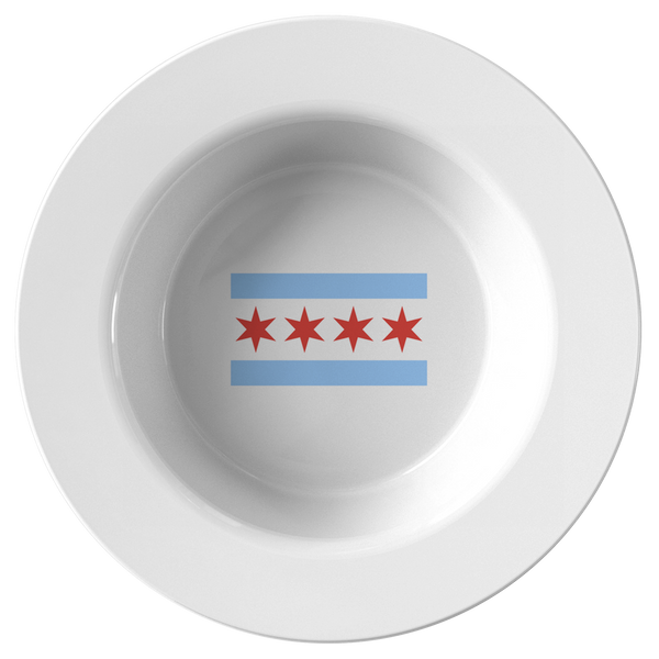 Chicago Flag 8.5 Inch Bowl