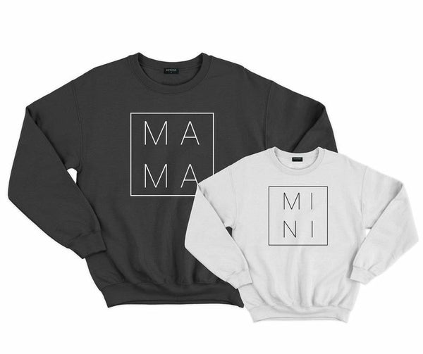 Mama, Dada and Mini Matching Sweatshirt Sets