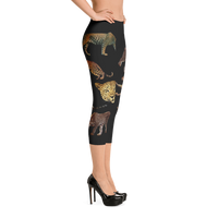 Leopard Capri Leggings