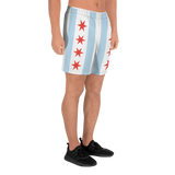 Chicago Flag Men's Athletic Long Shorts