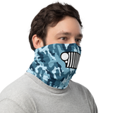 Blue Camo Offroading Neck Gaiter with Grill