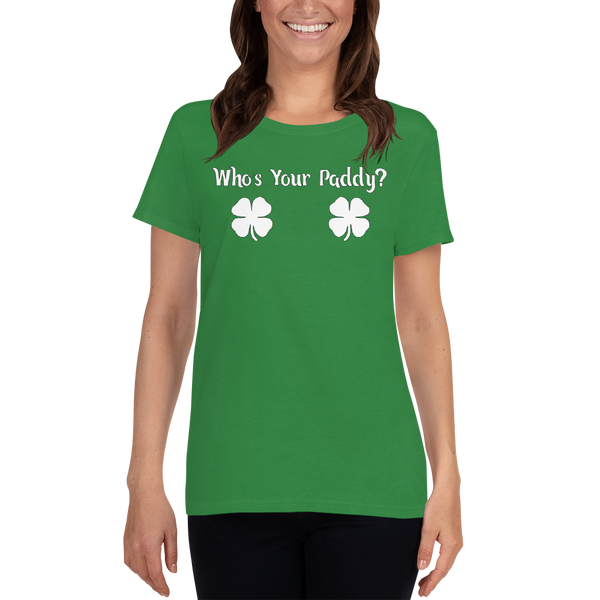 Who's Your Paddy Irish Green Ladies Tee