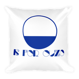 O is for Ouzo Throw Pillow