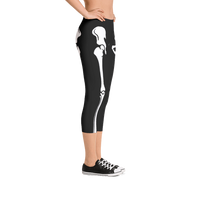 Skeleton Capri Leggings