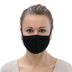 Black Cloth Face Mask 3-Pack