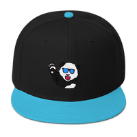 Party Panda Teal/Black Snapback Hat