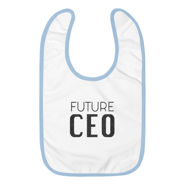 Future CEO Embroidered Baby Bib