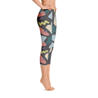 Illustrated Carrot Capri Leggings