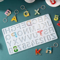 Silicone Alphabet Mold for DIY Letter Casting