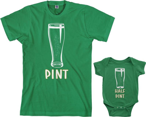 Pint and Half Pint Daddy and Me T-Shirt Set