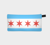 Chicago Flag Pencil Case