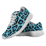 Blue Leopard Running Shoes, Unisex