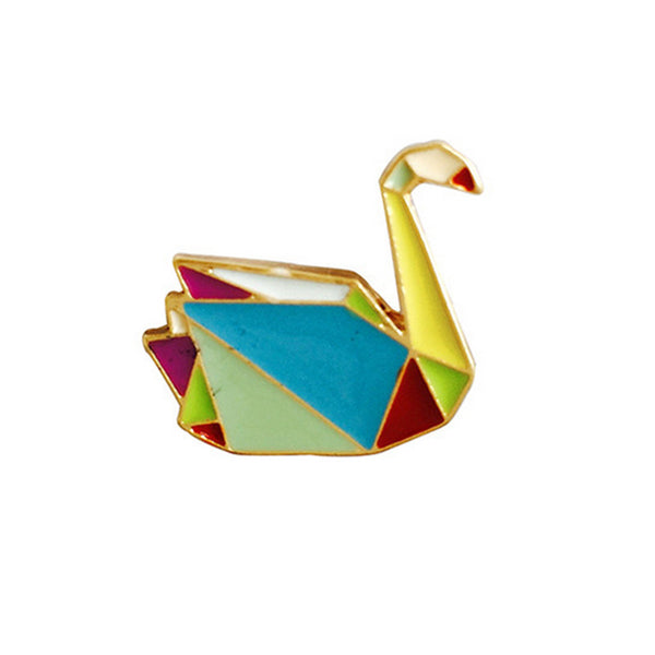 Geometric Animal Origami Pins