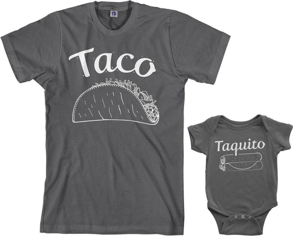 Taco and Taquito Daddy and Me Shirts