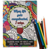 Wine Lovers Adult Coloring Book