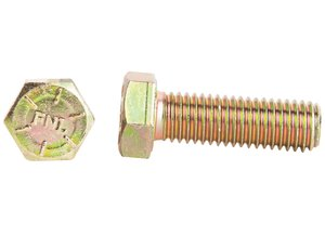 "1/4""-20 x 3/4"" Hex Cap Screw Grade 8 Yellow Zinc - utilitytruckparts"