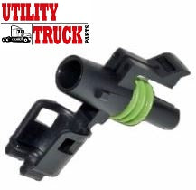 1 Cavity Male O2 Sensor Connector Weatherpack® Compatible Connector 12015791 - utilitytruckparts