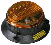 Amber LED Strobing Short Lens Beacon Peterson 748A Low-Profile - utilitytruckparts