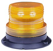 Amber LED Strobing Short Lens Beacon Peterson 766A Replacement Permanent Mounting - utilitytruckparts