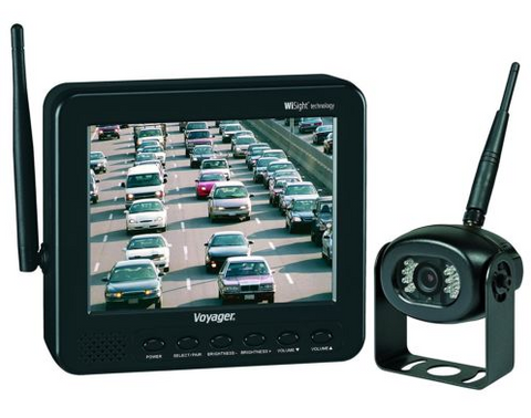 Wireless Back Up Camera kit Voyager® WVOS541 5.6 Inch Color Monitor and One Wireless Camera - utilitytruckparts